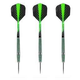 Click here to learn more about the Harrows Quantum 90% Tungsten Steel Tip Darts.