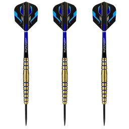 Click here to learn more about the Harrows Spina Gold 90% Tungsten Steel Tip Darts.