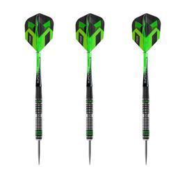 Click here to learn more about the Harrows Veridian 90% Tungsten Steel Tip Darts.