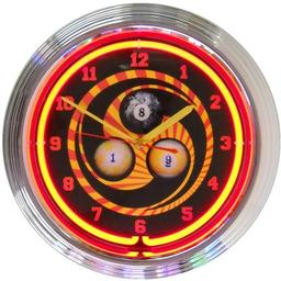 Click here to learn more about the Billiards 1, 8, 9 Neon Clock.