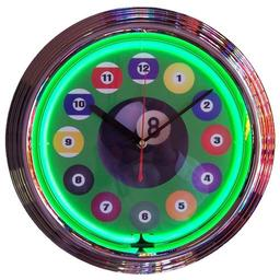 Click here to learn more about the Billiard Ball Green Neon Clock.