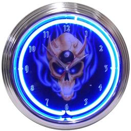 Click here to learn more about the 8 Ball Skull Neon Clock.
