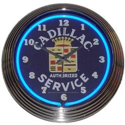 Click here to learn more about the Cadillac Service Neon Clock.