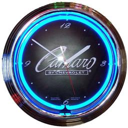 Click here to learn more about the GM Camero Script Neon Clock.
