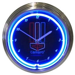 Click here to learn more about the GM Camaro Red, White and Blue Neon Clock.