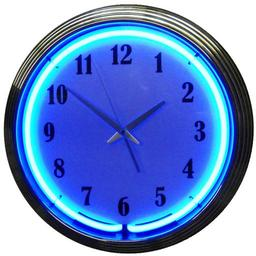 Click here to learn more about the Chrome Blue Standard Neon Clock.