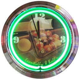 Click here to learn more about the Essentially Eight Ball Neon Clock.