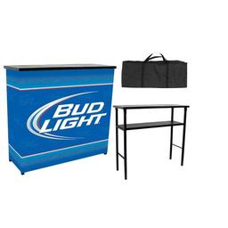 Click here to learn more about the Bud Light Metal 2 Shelf Portable Bar Table w/ Carrying Case.
