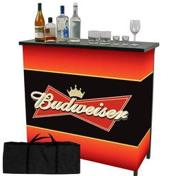 Click here to learn more about the Budweiser Metal 2 Shelf Portable Bar Table w/ Carrying Case.