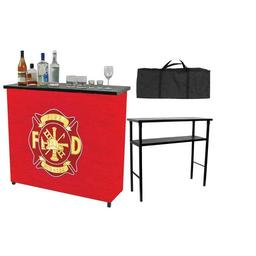 Click here to learn more about the Fire Fighter Metal 2 Shelf Portable Bar with Carrying Case.