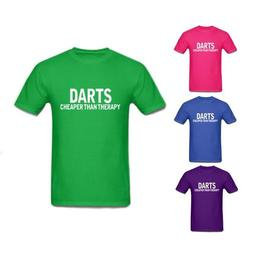 Click here to learn more about the Darts Cheaper Than Therapy T-Shirt.
